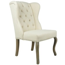Cream Sheffield Provincial Wingback Dining Chair