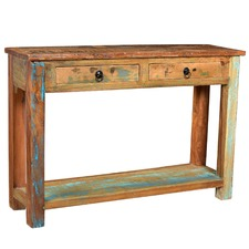 Roubaix Industrial 2 Drawer Console Table