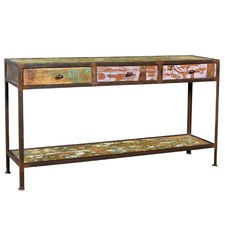 3 Drawer Industrial Console