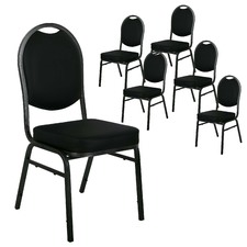Premium Stackable PU Office Visitor Conference Chairs (Set of 6)