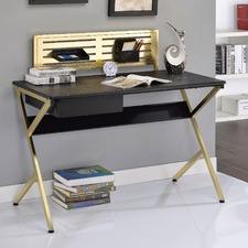 Black & Gold Marlene Office Desk