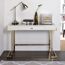 Champagne & White Ciera Office Desk