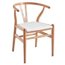 Hans Wegner Replica Wishbone Chair with Padded Seat