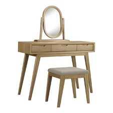 3 Piece Skov Natural Dressing Table Set