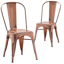 Copper Replica Tolix Chairs (Set of 2)