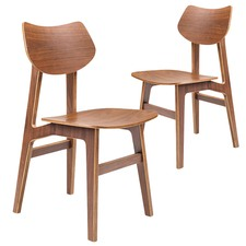 Shantay Scandi Walnut Dining Chairs (Set of 2)