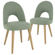 Olive Green Neo Upholstered Dining Chairs (Set of 2)