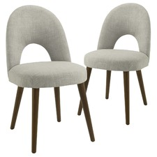 Light Grey Neo Upholstered Dining Chairs (Set of 2)
