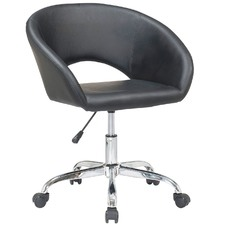 Black Ried Home Office Swivel Chair