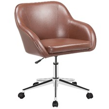 Brown Astor PU Home Desk Chair