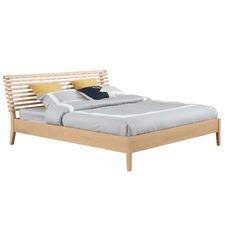 King Aurora Solid Beech Wood Bed