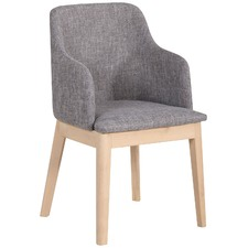 Grey Cassie Upholstered Dining Chair