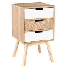 3 Drawer Norway Scandinavian Style Bedside Table