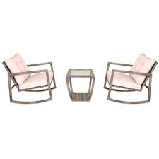 Navagio 3 Piece Rocking Chair Rattan Set