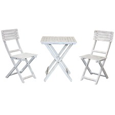 Salt & Pepper Grenada Balcony Table & Chairs Set