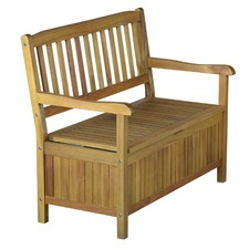 St Marteen 2 Seater Outdoor Storage Bench