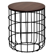 Walnut Pettini Birdcage Side Table