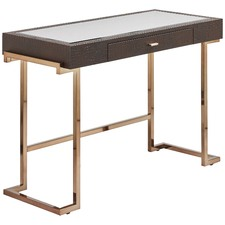 Brown & Gold Aurora Console Desk