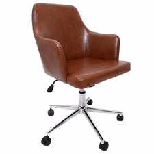 Brown Faux Leather Altar Office Chair