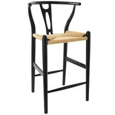 Black Hans Wegner 65cm Replica Wishbone Barstool