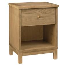 Lorne Oak 1 Drawer Bedside Table