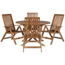 Palma 5 Piece Outdoor Timber Folding Dining Set