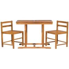 Marbella Outdoor Timber Furniture 3 Piece Patio Set