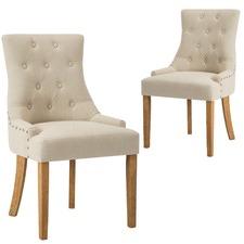 Beige Windsor Scoop Back Dining Chair (Set of 2)