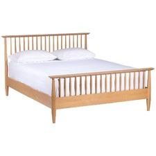 Olsen Queen Oak High Spindle Bed