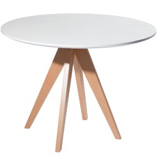 Skovde Round Beech Wood Dining Table
