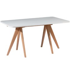 Nora Beech Wood 160cm Dining Table