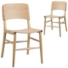 Kobe Ash Wood Dining Chairs (Set of 2)