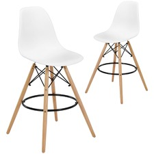Eames Replica DSW High Back Barstools (Set of 2)