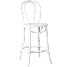 White Replica Bentwood High Back Barstool