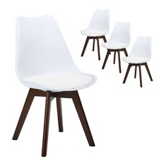 Walnut Nova Dining Chairs (Set of 4)
