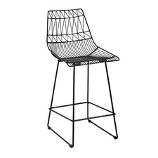 Black Gloss Replica Bend Barstool