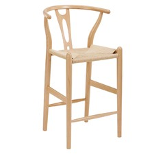 Natural Hans Wegner Replica Wishbone Bar Stool