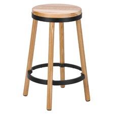66cm Brooklyn Ash Wood & Metal Barstool
