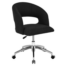 Chelsea Grey & Chrome Contemporary Home Office Chair