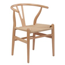 Natural Hans Wegner Replica Wishbone Chair (Set of 2)