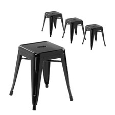 46cm Tolix Replica Low Stool (Set of 4)