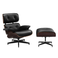 Eames Premium Leather Replica Lounge Chair & Ottoman