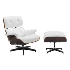 Eames Faux Leather Replica Lounge Chair & Ottoman