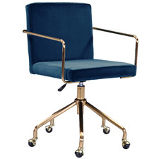 Camden Velvet Office Chair