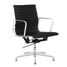 Eames Replica Fixed Base Leather Office Chair