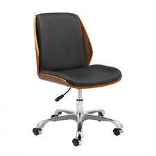 Bentwood Italian Leather Executive Office Chair