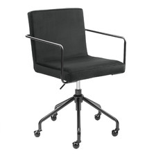 Black Camden Velvet Office Chair