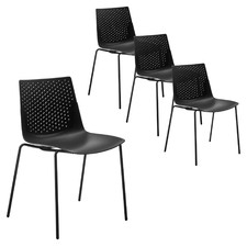 Allstar Stackable Conference Office Chairs (Set of 4)