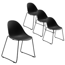 Inflow Stackable Conference Office Chairs (Set of 4)