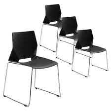 Sustain Stackable Visitor Chairs with Sled Base (Set of 4)